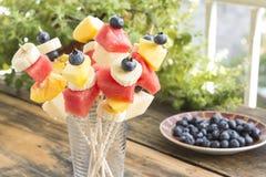 Refreshing Fruit Skewers - Fruit Snack Stock Photos