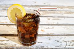 Refreshing Glass Of Cola Royalty Free Stock Photos