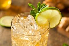 Refreshing Golden Ginger Beer Stock Image
