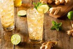 Refreshing Golden Ginger Beer Royalty Free Stock Photo