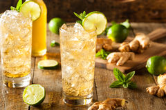 Refreshing Golden Ginger Beer Stock Images