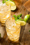 Refreshing Golden Ginger Beer Royalty Free Stock Photography