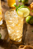 Refreshing Golden Ginger Beer. With Lime and Mint Royalty Free Stock Photography