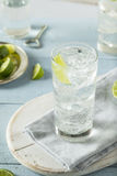 Refreshing Hard Sparkling Water. With a Lime Garnish stock photography