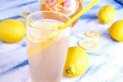 Refreshing Homemade Ice Cold Strawberry Lemonade Stock Photos