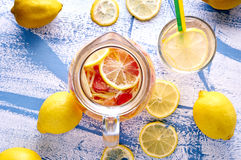 Refreshing Homemade Ice Cold Strawberry Lemonade Stock Images