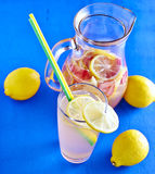 Refreshing Homemade Ice Cold Strawberry Lemonade Royalty Free Stock Photo