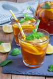 Refreshing homemade lemon iced tea Stock Photography