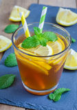 Refreshing homemade lemon iced tea Royalty Free Stock Photo