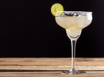 Refreshing homemade margarita with lime and salt Stock Photos