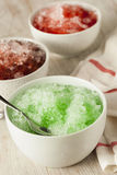 Refreshing Homemade Shaved Ice Stock Images