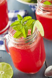 Refreshing Homemade Watermelon Agua Fresca Stock Photo
