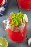 Refreshing Homemade Watermelon Agua Fresca Stock Photos