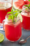 Refreshing Homemade Watermelon Agua Fresca Royalty Free Stock Photography