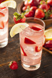 Refreshing Ice Cold Strawberry Lemonade Royalty Free Stock Photos