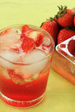 Refreshing Ice Cold Strawberry soda juice Royalty Free Stock Image