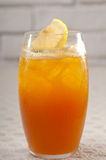 Refreshing Ice tea. Closeup macro with lemon and mint leaves Royalty Free Stock Photography