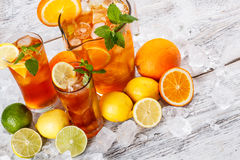 Refreshing ice tea Stock Images