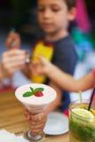 Refreshing icecream juice Stock Photos