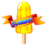 A refreshing icecream on stick for summer Stock Image