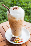 Refreshing iced milk espresso and sweet Stock Photo