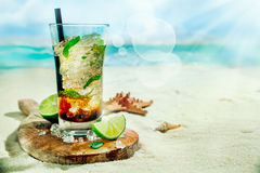 Refreshing iced rum mojito cocktail Stock Images