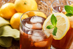 Refreshing Iced Tea. Makes a perfect drink on a hot summer day stock photography