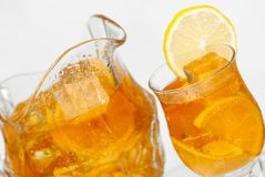 Refreshing iced tea Stock Images
