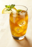 Refreshing Iced Tea with Lemon. Against a background Royalty Free Stock Photos