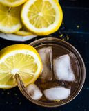 Refreshing Iced Tea with Lemon Rounds. Refreshing Iced Tea Beverage with Lemon Rounds royalty free stock photo