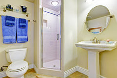 Refreshing ivory bathroom interior Stock Images