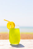 Refreshing juice on the sea Stock Photos