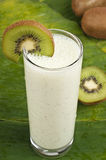 Refreshing kiwi smoothie milk shake Royalty Free Stock Photo
