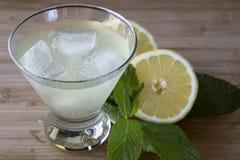 Refreshing Lemon Cocktail Stock Photography