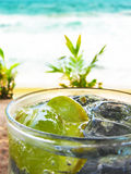 Refreshing lemon Soda With Ice Royalty Free Stock Photos
