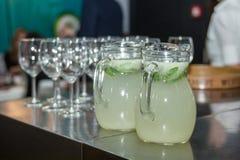 Refreshing Lemonade Drink Royalty Free Stock Photos