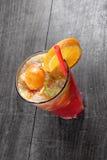 Refreshing lemonade on wooden table Stock Photo