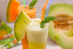 Refreshing melon juices Royalty Free Stock Photography