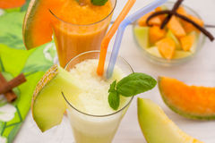 Refreshing melon juices Royalty Free Stock Image