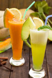 Refreshing melon juices Stock Photo
