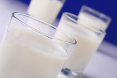 Refreshing milk Stock Images