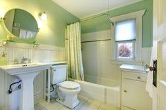 Refreshing mint bathroom Stock Photography