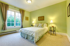Refreshing mint bedroom Stock Images