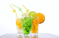 Refreshing mixes of a tropical fruits Royalty Free Stock Photography