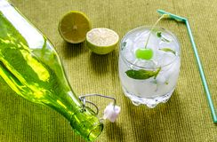 Refreshing mojito cocktail Stock Photo