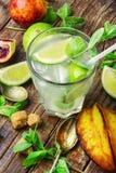 Refreshing non-alcoholic Mojito cocktail Stock Image