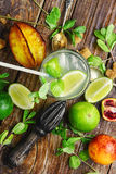 Refreshing non-alcoholic Mojito cocktail Stock Photo