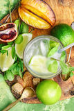 Refreshing non-alcoholic Mojito cocktail Royalty Free Stock Images