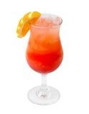 Refreshing orange cocktail isolated Royalty Free Stock Images
