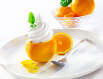 Refreshing orange tropical dessert Stock Photography